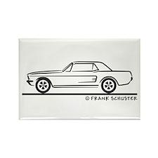 1968 Mustang Hardtop Rectangle Magnet