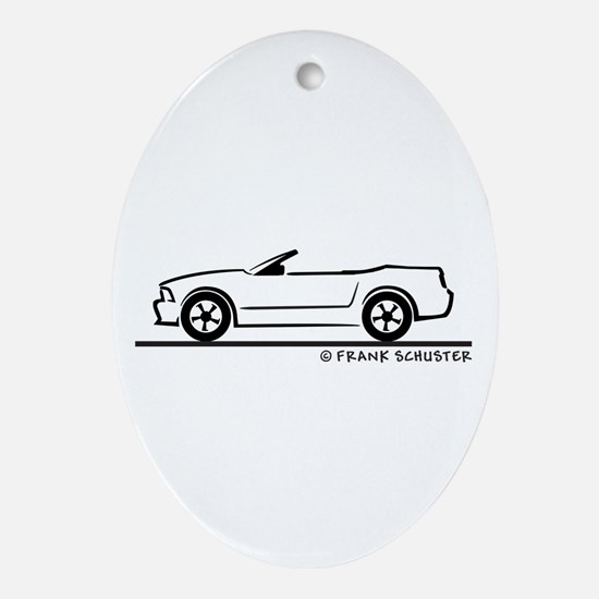 2007 Ford Mustang Convertible Ornament (Oval)