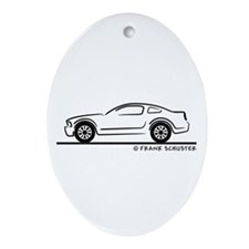 New Ford Mustang Fastback Ornament (Oval)