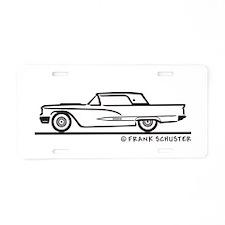 1958 Thunderbird Hard Top Aluminum License Plate