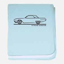 1962 Ford Thunderbird Hard To baby blanket