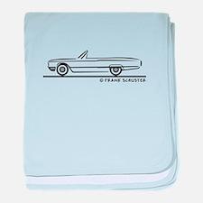 1964 Ford Thunderbird Convert baby blanket