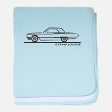 1964 Ford Thunderbird Hard T baby blanket