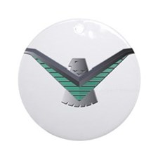T Bird Emblem Bird Ornament (Round)