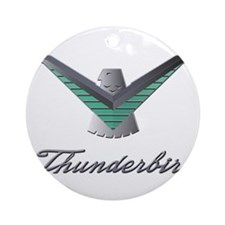T Bird Emblem with Script Ornament (Round)