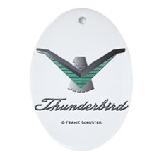 T Bird Emblem with Script Ornament (Oval)