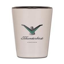 T Bird Emblem with Script Shot Glass