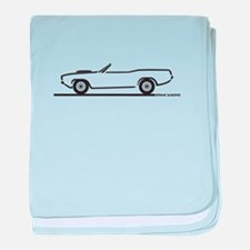 1970-74 Cuda Convertible baby blanket