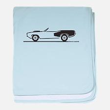 1970-74 Hemi Cuda Convertible baby blanket