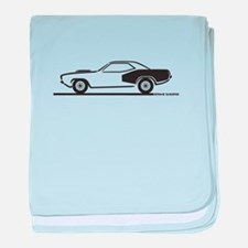 1970-74 Plymouth Hemi Cuda baby blanket
