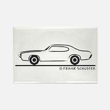 1969 Pontiac GTO Coupe Rectangle Magnet