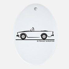 Sunbeam Alpine V Ornament (Oval)
