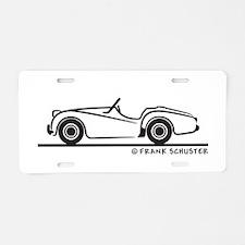 Triumph TR2 Roadster Aluminum License Plate