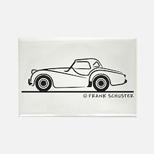 Triumph TR2 Rag Rectangle Magnet