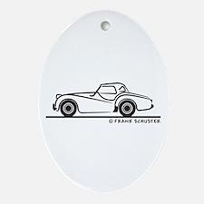 Triumph TR2 Rag Ornament (Oval)