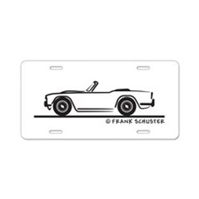 Triumph TR4 Aluminum License Plate
