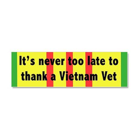 Vietnam Vet Car Magnet 10 x 3