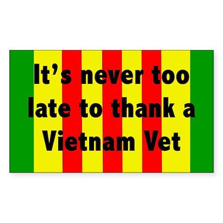 Thank a Vet Sticker (Rectangle)