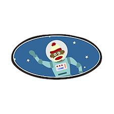 Sock Monkey Astronaut Patches