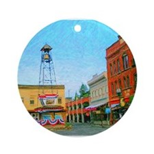 Placerville Bell Tower Square Ornament (Round)
