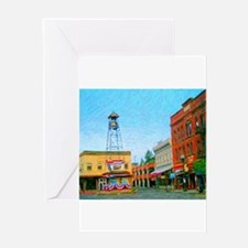 Placerville Bell Tower Square Greeting Card