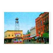 Placerville Bell Tower Square Postcards (Package o