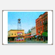 Placerville Bell Tower Square Banner