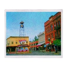 Placerville Bell Tower Square Throw Blanket