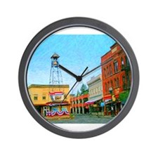Placerville Bell Tower Square Wall Clock