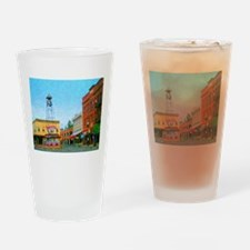 Placerville Bell Tower Square Drinking Glass