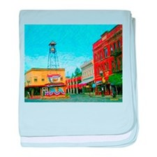 Placerville Bell Tower Square baby blanket