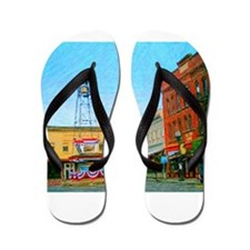 Placerville Bell Tower Square Flip Flops