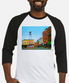 Placerville Bell Tower Square Baseball Jersey