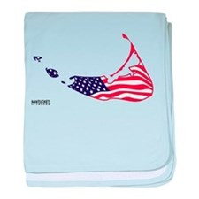 Nantucket Island MA - Map Design baby blanket