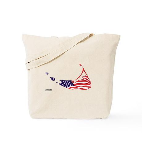 Nantucket Island MA - Map Design Tote Bag