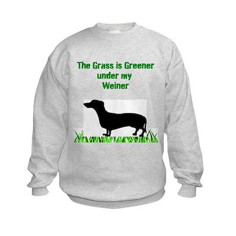 Grass is Greener Kids Sweatshirt