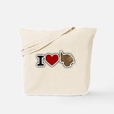 I Love Turkey Tote Bag