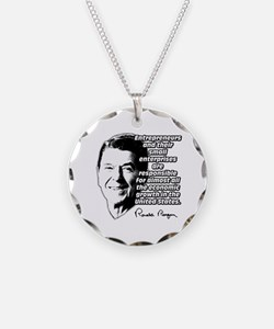 Reagan Quote Small Business Necklace