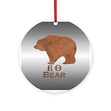 Yonah - Cherokee Bear Christmas Ornament (Round)