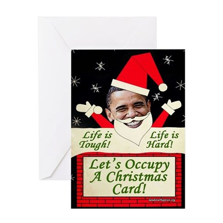 Let's Occupy a Christmas Card (Single Card)