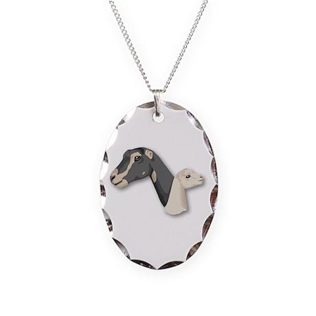 LaMancha Goat Necklace Oval Charm
