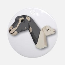 LaMancha Goat Ornament (Round)