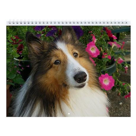 Sheltie Garden Wall Calendar