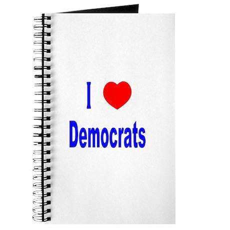 I Love (Heart) Democrats Journal