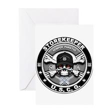 USCG Storekeeper Skull SK Greeting Card