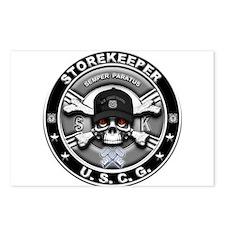 USCG Storekeeper Skull SK Postcards (Package of 8)