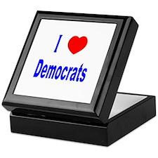 I Love (Heart) Democrats Keepsake Box