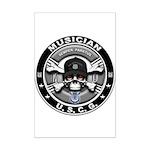 USCG Musician Skull MU Mini Poster Print