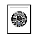 USCG Musician Skull MU Framed Panel Print