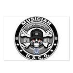 USCG Musician Skull MU Postcards (Package of 8)